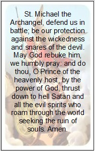 image relating to St. Michael the Archangel Prayer Printable identified as Religion